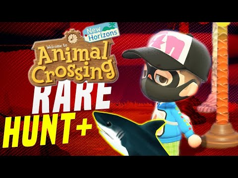 Animal Crossing NEW 🦈 Hunt + Rare Villagers! New Horizons 5 Star Island Tours! (Switch Update)