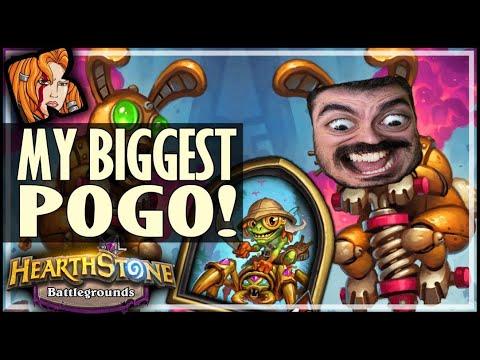 MY BIGGEST POGO YET! - Hearthstone Battlegrounds