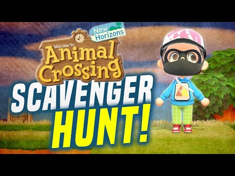 Animal Crossing EPIC CONTEST and RACE in New Horizons Scavenger Hunt!