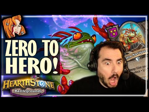 FLURGL = ZERO TO HERO! - Hearthstone Battlegrounds