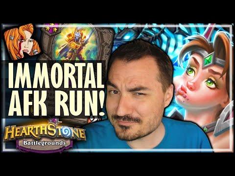 IMMORTAL AFK RUN?! - Hearthstone Battlegrounds
