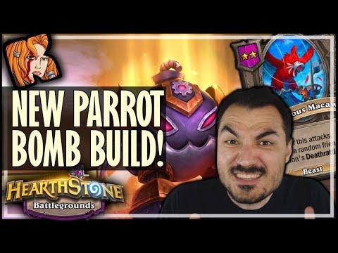 NEW PARROT BOMB BUILD TOO OP! - Hearthstone Battlegrounds