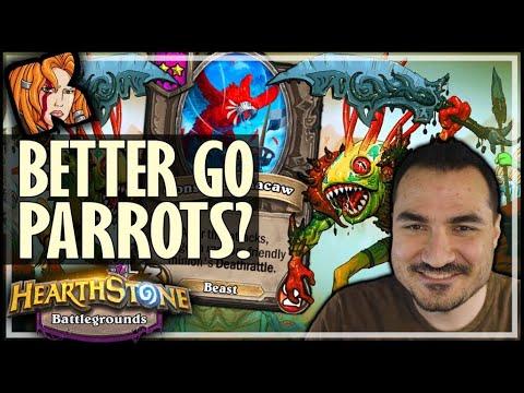 GIVING UP MURLOCS FOR PARROTS?! - Hearthstone Battlegrounds