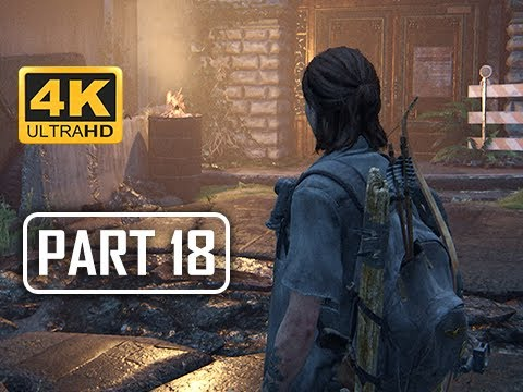 The Last of Us Part 2 Walkthrough Part 18 - Death Jump (4K PS4 PRO Gameplay)