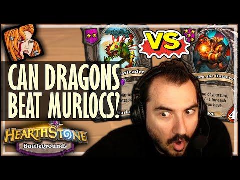 DRAGONS CAN BEAT MURLOCS?! - Hearthstone Battlegrounds