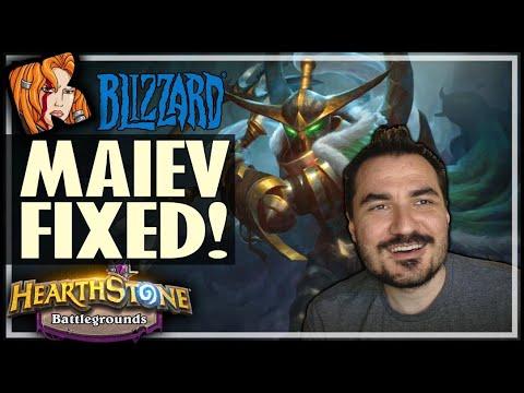 BLIZZARD FIXED MAIEV! - Hearthstone Battlegrounds