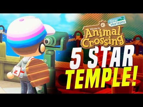 This 5 Star SCARY Hidden Temple!  Animal Crossing New Horizons Island Tour (Animal Crossing Tips)