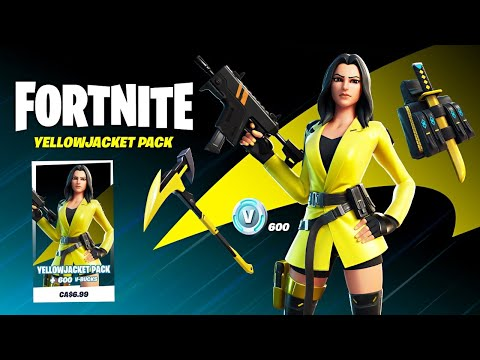 New YELLOW JACKET Skin! (Fortnite Battle Royale)
