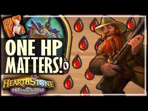 ONE HIT POINT MATTERS! - Hearthstone Battlegrounds