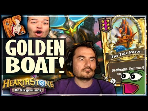 I MADE A GOLDEN BOAT BUILD! - Hearthstone Battlegrounds