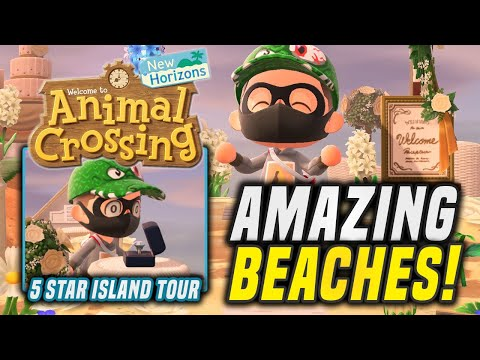Must SEE 5 Star Island With GREAT Beaches in Animal Crossing New Horizons (Island Tour)