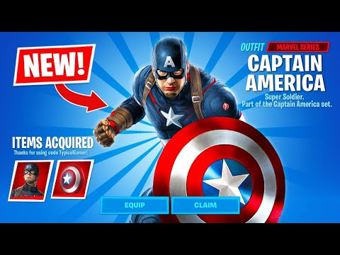 New CAPTAIN AMERICA in Fortnite Item Shop! (most likely)