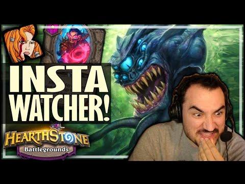 INSTA-WATCHER DEMONS! - Hearthstone Battlegrounds