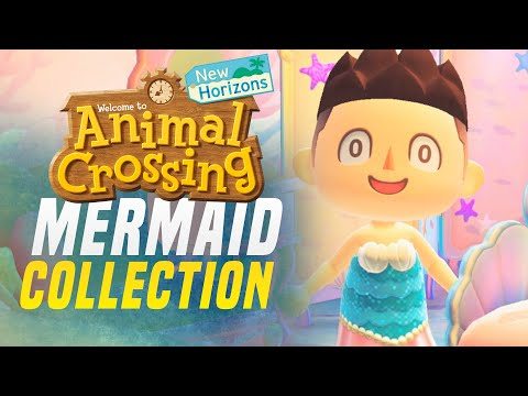 ALL NEW Mermaid Set DIY Items + Recipes in Animal Crossing New Horizons!  (Pascal 1.3 Update)