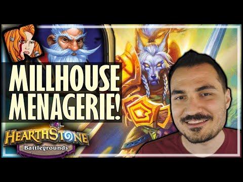 MILLHOUSE MENAGERIE! - Hearthstone Battlegrounds