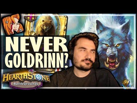 NEVER GOLDRINN? NEVER LUCKY! - Hearthstone Battlegrounds