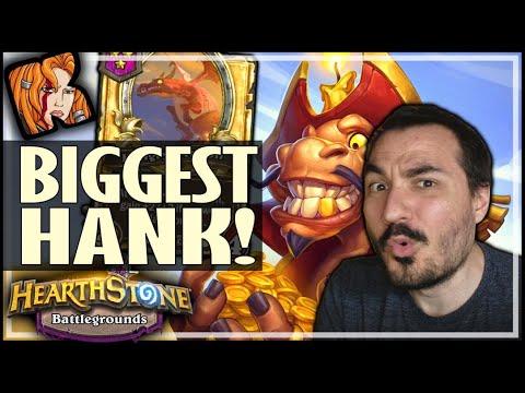 MY BIGGEST HANK EVER! - Hearthstone Battlegrounds