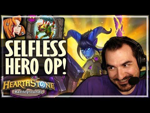 SELFLESS HERO IS THAT BONUS OP - Hearthstone Battlegrounds