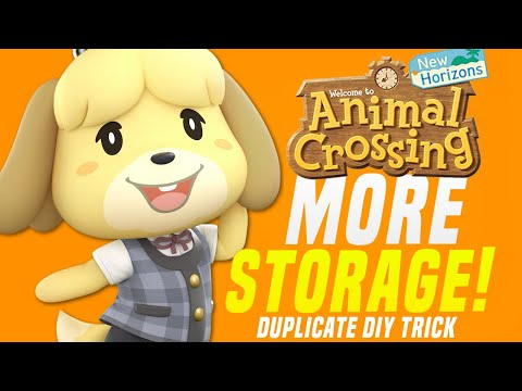 NEW STORAGE TRICK in Animal Crossing New Horizons! (Animal Crossing Tips)