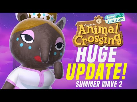 MAJOR New Features + Update COMING to Animal Crossing New Horizons! (Summer Wave 2)