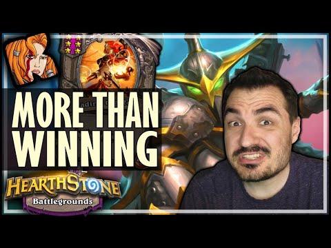 IT'S NOT JUST WINNING, IT'S SENDING A MESSAGE! - Hearthstone Battlegrounds