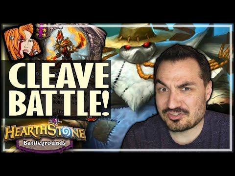 THE GIANT CLEAVE BATTLE! - Hearthstone Battlegrounds