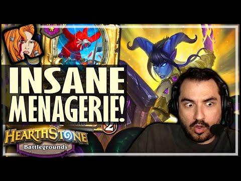 INSANE DIVINE MENAGERIE BUILD! - Hearthstone Battlegrounds