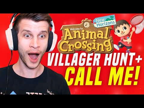 🔴CALL ME + Rare Villager Hunt! Animal Crossing New Horizons | SwitchForce