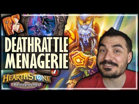 DEATHRATTLE + MENAGERIE?! - Hearthstone Battlegrounds