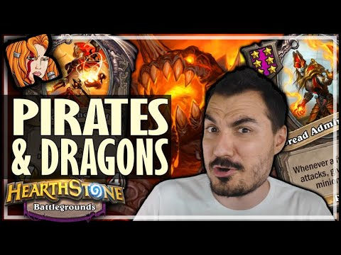 PIRATES & DRAGONS SYNERGY BUILD?! - Hearthstone Battlegrounds
