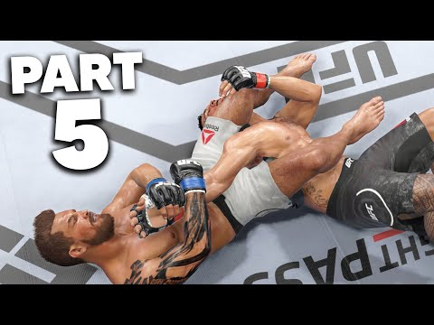 UFC 4 Career Mode Gameplay Walkthrough Part 5 - BODY KO & SUBMISSION