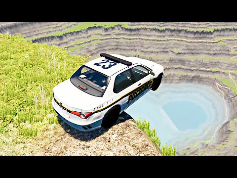 HIGH PEAK CAR JUMPS DOWN #12 | BeamNG Drive [4K 60FPS]