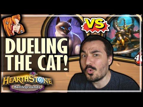 DUELING THE CAT = HARDMODE BG - Hearthstone Battlegrounds