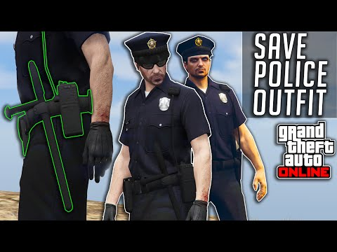 GTA V Online How To Save Cop/Police Outfit Easy | Summer Special 1.51 | Clothing Glitches Not Modded