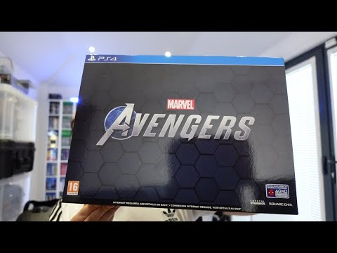 MARVEL'S AVENGERS EARTH MIGHTIEST EDITION UNBOXING (Collector's Edition)