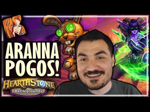 ARANNA IS GOOD WITH POGOS?! - Hearthstone Battlegrounds