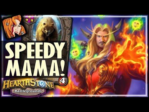 SPEEDY MAMA BUILD OP! - Hearthstone Battlegrounds