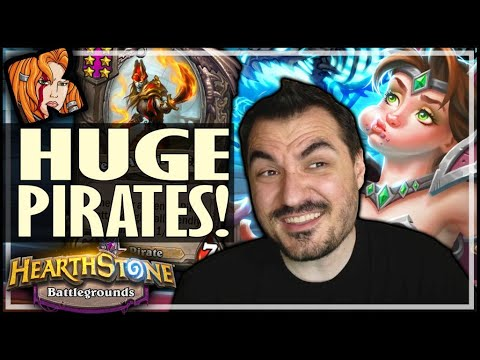 THESE PIRATES ARE HUUUUGE! - Hearthstone Battlegrounds
