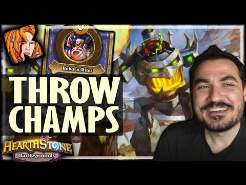 THROW CHAMPIONS 2020?! - Hearthstone Battlegrounds