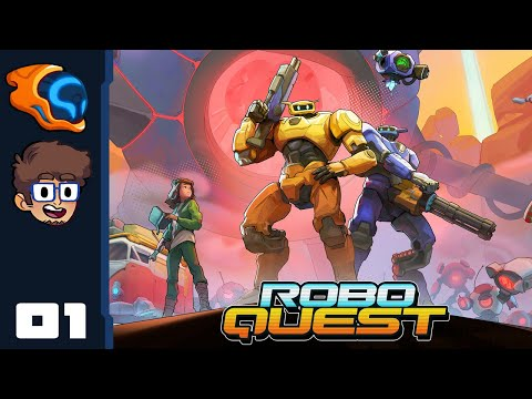 SET RAGDOLLS TO MAXIMUM! - Let's Play Roboquest [Co-Op With @Retromation] - PC Gameplay Part 1