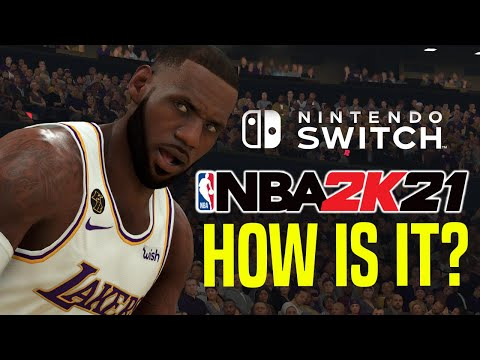 NBA 2K21 Switch Gameplay - Los Angeles Lakers vs Houston Rockets | How Does It Run?