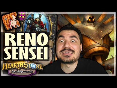 RENO IRON SENSEI BUILD?! - Hearthstone Battlegrounds