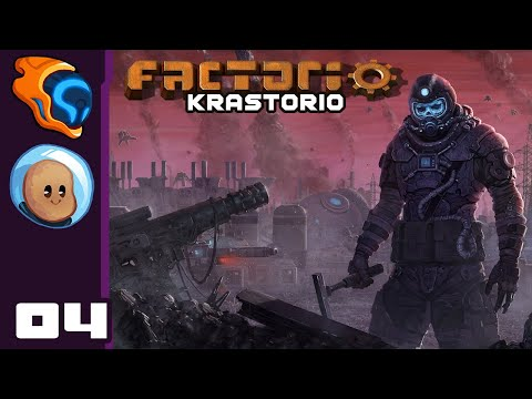 Blood In The Water - Let's Play Factorio [Krastorio with @Orbital Potato] - Part 4