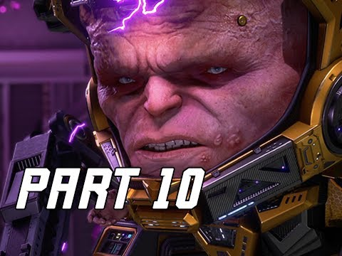 MODOK - MARVEL'S AVENGERS Walkthrough Gameplay Part 10 (PS4 PRO)