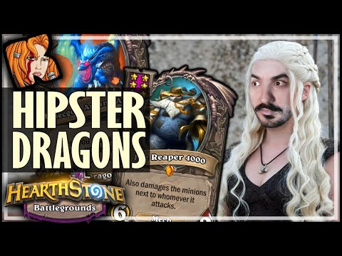 THE HIPSTER DRAGON BUILD! - Hearthstone Battlegrounds