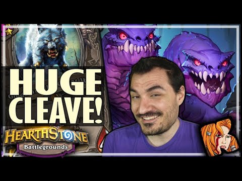 NOW THAT'S A HUGE CLEAVE! - Hearthstone Battlegrounds