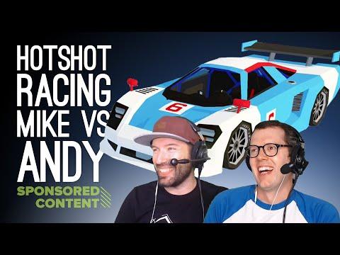 Hotshot Racing Gameplay: MULTIPLAYER FACE-OFF - Let's Play Hotshot Racing (Sponsored Content)
