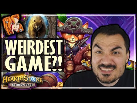 THE WEIRDEST GAME EVER?! - Hearthstone Battlegrounds