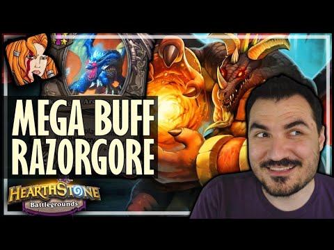MY BIGGEST RAZORGORE EVER?! - Hearthstone Battlegrounds