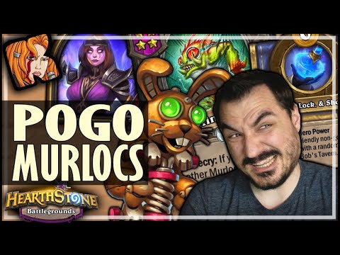 POGOS GO WELL WITH MURLOCS! - Hearthstone Battlegrounds